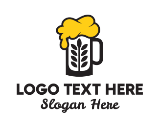 Night Club - Beer Wheat logo design