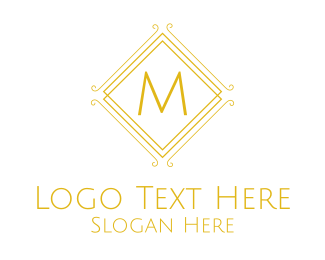 Luxurious - Luxurious Stroke Square Lettermark logo design