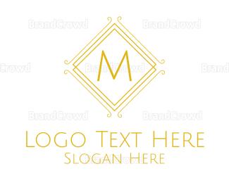 Condominium - Luxurious Stroke Square Lettermark logo design