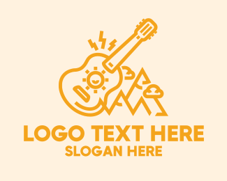 Acoustic - Music Guitar Camp logo design