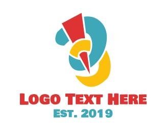 Alteration - Colorful Needle B logo design