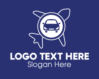 Airport Taxi - Car & Airplane logo design