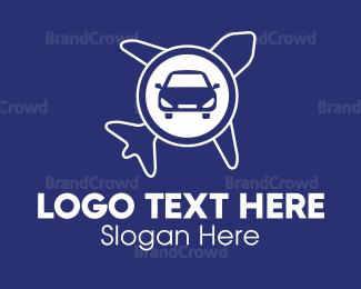 Van - Car & Airplane logo design