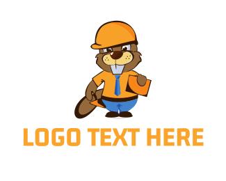 Beaver - Worker Beaver logo design