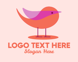 Nightingale - Cute Small Bird  logo design