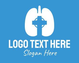 Holy Spirit - Respiratory Lung Crucifix logo design