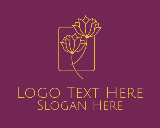 Spa - Golden Flower Spa logo design