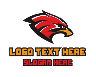 Baseball - Eagle Sports Mascot logo design