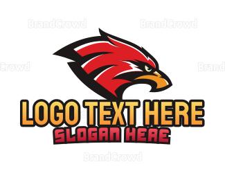 Aggressive - Eagle Sports Mascot logo design