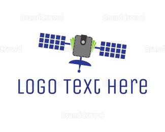 Satellite - Space Money logo design