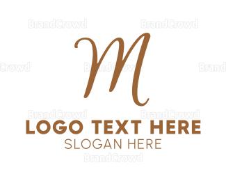 Traditional - Bronze Letter M logo design