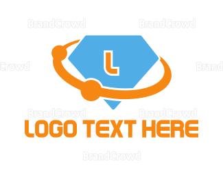 Planet - Diamond Planet Lettermark logo design