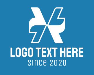 Directional - White Arrows Letter X logo design
