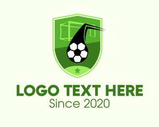 Soccer - Soccer Goal Shield logo design