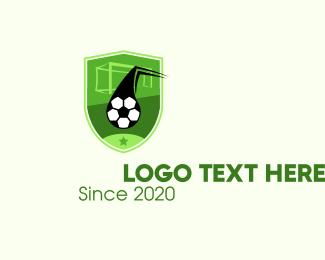 Goal - Soccer Goal Shield logo design