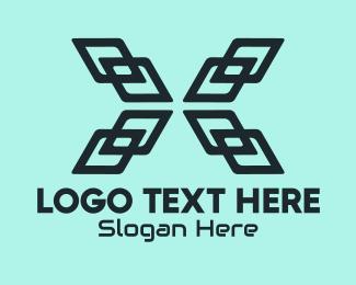 It Company - Modern Letter X Company  logo design