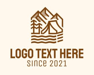 Camp - Outdoor Mountain Camping logo design