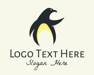 Black Penguin - Wild Penguin logo design