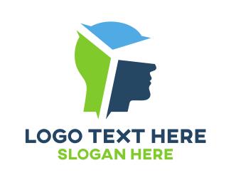 5d - Colorful Head VR  logo design