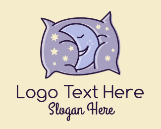 Sleepy - Sleepy Moon Pillow  logo design