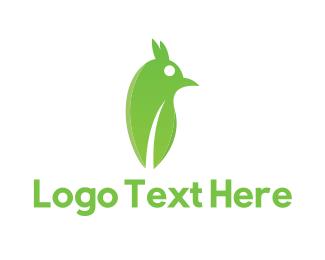 Green Bird - Green Abstract Bird logo design