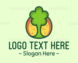 Landscape - Green Tree logo design
