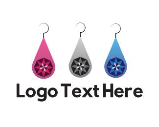 Gemstone - Jewelry Earrings logo design