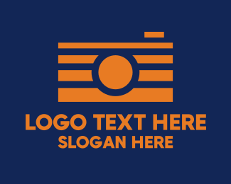 Instagram - Orange Film Camera logo design