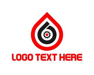 Gas - Drop Number 6 logo design
