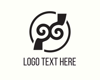 Symmetrical - Twin Hook logo design
