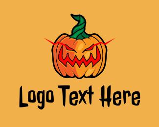 Evil - Evil Halloween Pumpkin logo design