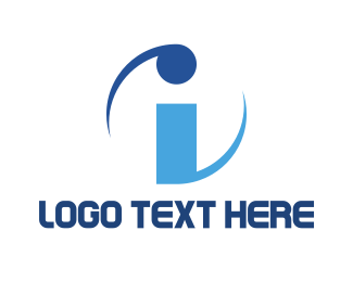 Spin - Spinning Letter I logo design