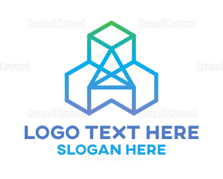 Burning Man - Diamond Cubes logo design