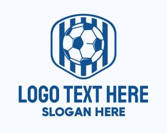 Coaching - Blue Soccer Ball logo design