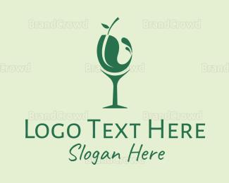 Bartender - Eco Wine logo design