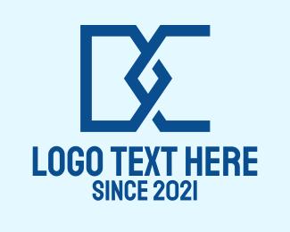 Ad - Blue D & C Monogram logo design