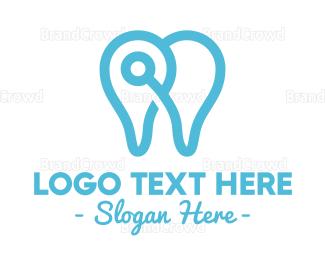 Hospital - Modern Tooth Outline logo design