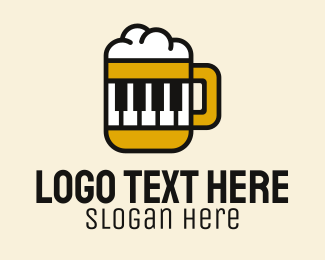 Music Bar - Beer Piano Lounge Bar  logo design