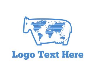 World - World Milk logo design