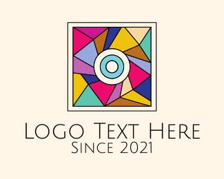 Art - Mosaic Art Painting logo design