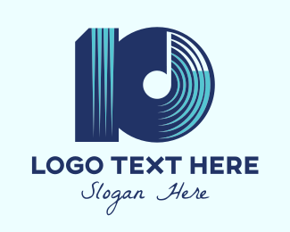 Musical Album - Music Album Number 10 logo design