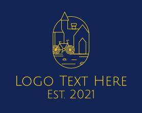 Town - Golden Town Bike logo design