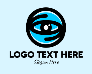Optical - Blue Optical Eye logo design