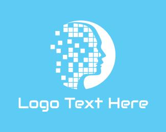 Diagnostics - Face Pixel logo design