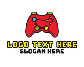 Esport - Analytical Esport Gaming Controller logo design