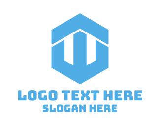 """Blue Hexagon W"" by shad"