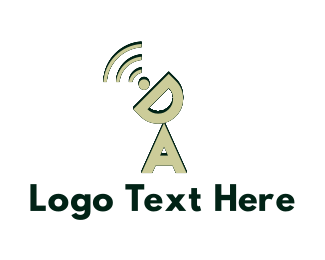 World Wide Web - Wireless Letters logo design