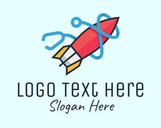 Missile - Rocket Stethoscope logo design
