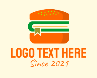 Buns - Cheeseburger Book  logo design