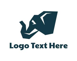 Savanna - Blue Mammoth logo design